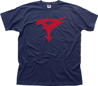 BATTLE OF THE PLANETS G-FORCE LOGO RETRO 80s Cartoon navy t-shirt
