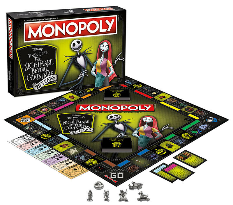 USAopoly MONOPOLY® Game of Thrones, The Walking Dead or Rick and Morty or more TheNightmareBeforeChristmas25Yrs