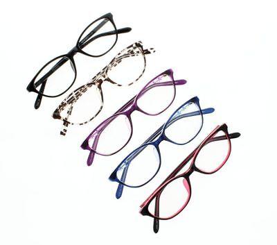 Cat Eye Myopia Glasses 5 Colors Various Strength Nearsighted Ladies (Colored Eye Glasses)