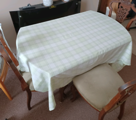 Wooden Table with e chairs
