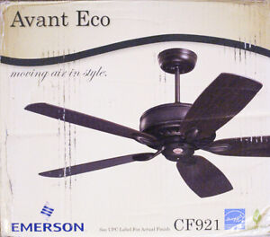 """Brand New CF921 Avant Eco 60"""" Emerson Ceiling Fan with 5 Blades"""
