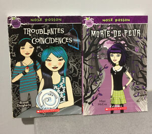 """2x French chapter books """"Noir Poison"""" series (ages 9-12)"""