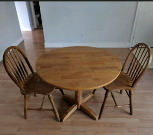 Wooden Dining table/kitchen table/bistro table + 2 chairs-$25
