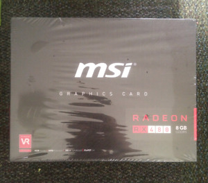 MSI RX480 graphics card - new in sealed box