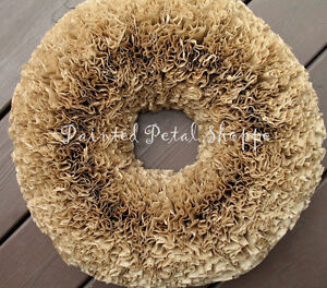 Natural Coffee Filter Wreath/Rustic Decor/Wedding Wreath Belleville Belleville Area image 1