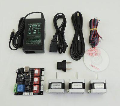 Grbl Laser Cnc Controller Board 3axis Driver Board3pc Nema17 Motorpower Supply