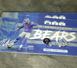 DETROIT LIONS-CHICAGO BEARS Thanksgiving day.11/22/18@12:30p.m.