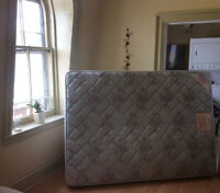 Free double bed and box spring in good condition