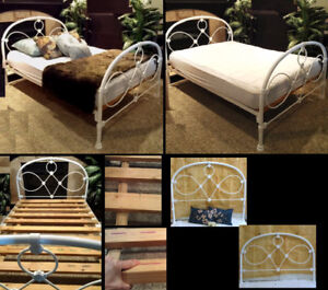Australian Made! 5-pc Strong Vintage Charm DOUBLE Bed Frame