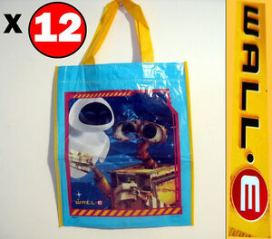 "Disney Wall E Robot Pixar Party Loot Tote Bags 12 bags 13"" x 11"""