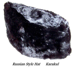 KARAKUL hat, Hudson's Bay Seal, black fur, made in Ottawa 1960