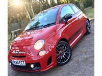 Fiat 500 1.4 T-Jet 135 Abarth Turbo**Upgrade Red Leather,Truly Stunning Specimen