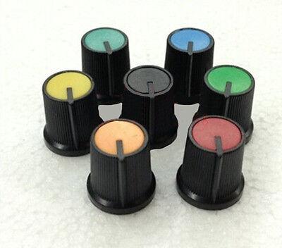 Hot 10pcs Fad Face Plastic For Rotary Taper Potentiometer Hole 6mm New Knob Ec