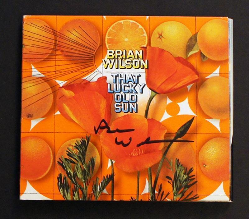 BRIAN WILSON SIGNED - That Lucky Old Sun CD, w/ Grimey