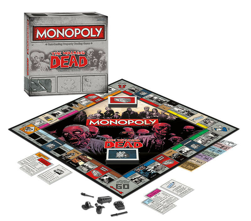 USAopoly MONOPOLY® Game of Thrones, The Walking Dead or Rick and Morty or more TheWalkingDead