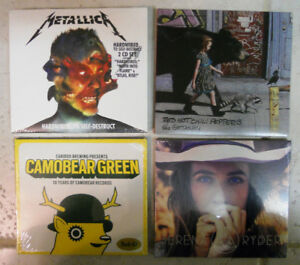 CDs: Metallica, Red Hot Chili Peppers, Serena Ryder, Camobear
