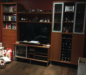 Ikea (Magiker) tv stand and shelving unit- $400.00
