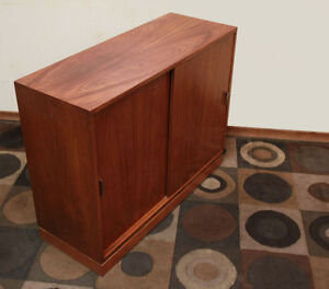Petite Teak Server or Media Cabinet SEE VIDEO