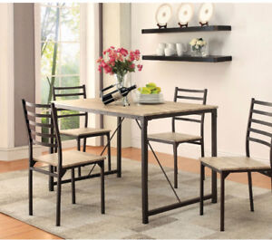 5- piece coaster dining table set for $160