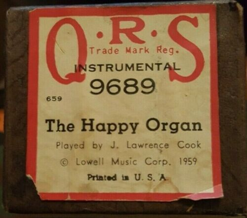 The Happy Organ Piano Roll QRS instrumental 9689