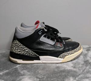 Air Jordan 3 Black Cement size 7Y fits 8.5 Womens