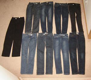 Girls Jeans sz 0, 1, 3,5 / Tops,  - 12, 14, Ladies S, M Strathcona County Edmonton Area image 2