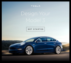 2018 Tesla Model 3 Sedan - READY TO CONFIGURE / Prête à acheter!