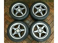 "4 x 15"" alloys with tyres"