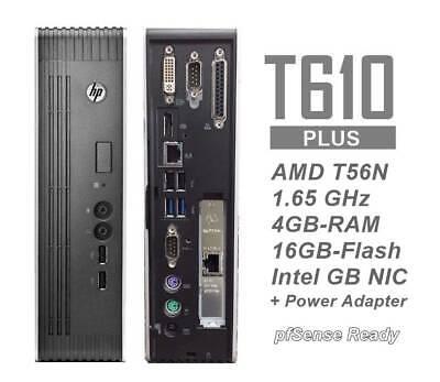 HP t610 Plus Thin Client w/ GB Intel Pro1000 NIC 16/4GB-pfSense 2.5 Sophos ready