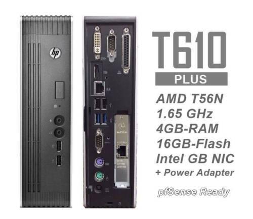 HP t610 Plus Thin Client w/ GB Intel Pro1000 NIC 16/4GB-pfSense Sophos ready