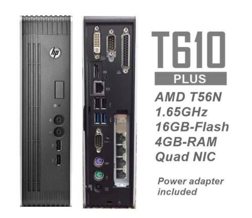 HP t610 Plus Thin Client 16/4GB w/ Intel QUAD NIC -pfSense OpenWRT, Sophos ready