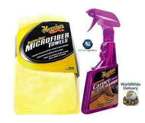 meguiars heavy duty carpet and interior cleaner supreme microfiber towels ebay. Black Bedroom Furniture Sets. Home Design Ideas