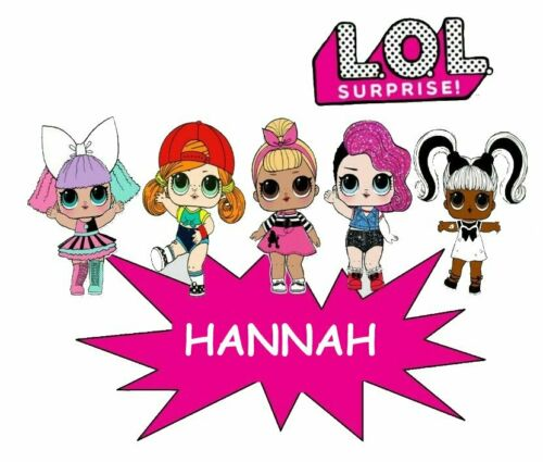 Personalized LOL Dolls Surprise PERSONALIZED:::::FABRIC/T-SHIRT IRON ON TRANSFER
