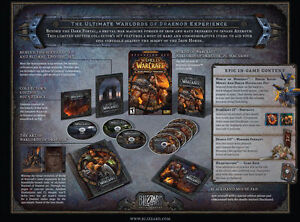 World of Warcraft Warlords of Draenor Collector's Edition NEW SEALED