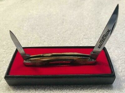WINCHESTER HALF WHITTLER POCKET KNIFE W 15 2935 STAG, NEW IN BOX
