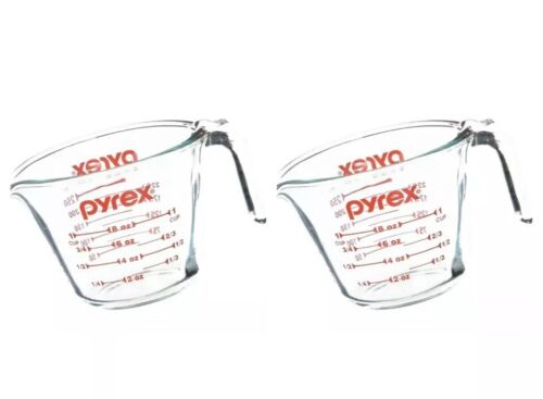 2 Packs Of Pyrex Prepware 1-Cup Measuring Cup, Clear with Re