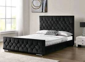 BRAND NEW FLORENCE CRUSHED VELVET FRAME BED NOW ON OFFER!!
