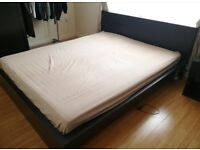 Ikea Malm king size bed with mattress in excellent condition