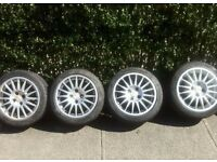 "15"" OZ Racing Alloy Wheels with Tyres (4x100, ET37)"