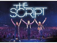 2 x Standing Tickets to see the Script this Monday in Newcastle.