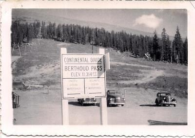 Continental Divide Berthoud Pass Pacific Atlantic Watershed Sign Vintage Photo