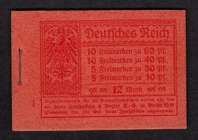 Dt. Reich, Markenheft, Markenheftchen 15.1 A 2 postfr. TOP Erhaltung,siehe Scan