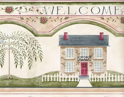 Folk Art Wallpaper Border Traditional Country 41676910