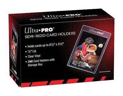 (100) Ultra-Pro SEMI RIGID Card Holders Flexible Sleeves Savers