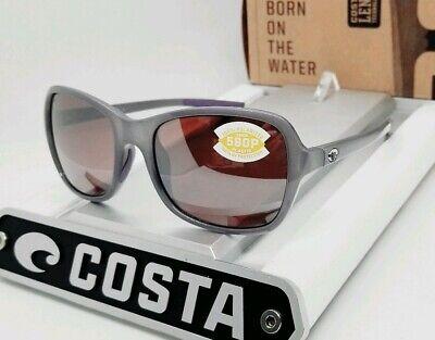 COSTA DEL MAR sea lavender crystal/silver KARE POLARIZED 580P sunglasses! NEW! Lavender Womens Sunglasses