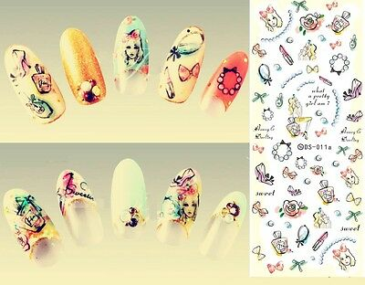 Adesivi per unghie ACCESSORI MODA GLAM GIOIELLI NAIL ART water decals Stickers