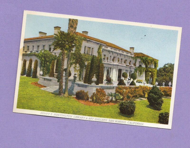San Marino  California Postcard Huntington Library & Art Gallery The ART Gallery