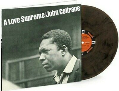 John Coltrane A Love Supreme 180 Gram, Black Swirls Colored Vinyl LP, Sealed