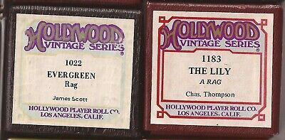 Pianola Rolls Hollywood USA maker Ragtime tunes. James Scott and Chas. Thompson