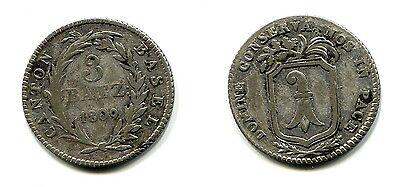 3 Batzen Canton Basel 1809